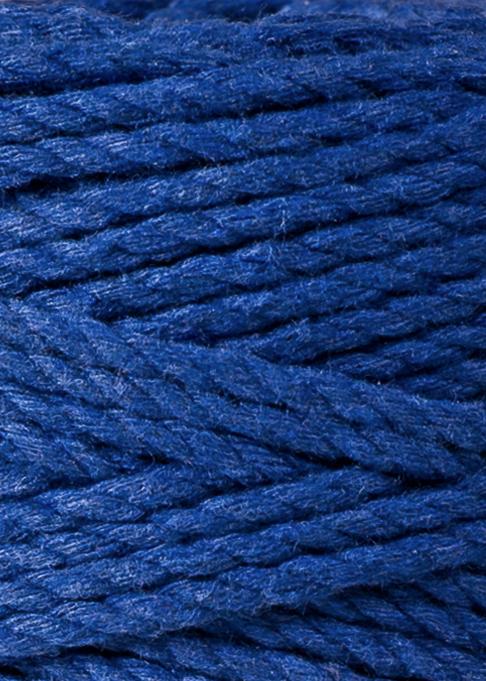 blått makrame tau 3mm