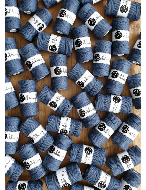 Jeansblått tau 3 mm