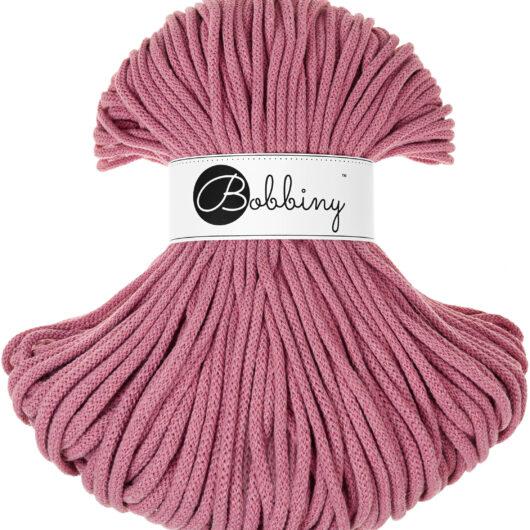 Tykt rosa hekle og strikkegarn